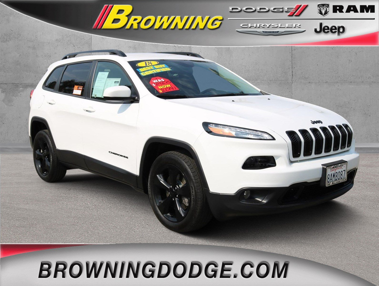 Certified Pre Owned 2018 Jeep Cherokee Latitude