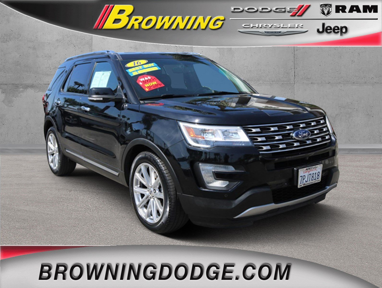 Pre owned 2016 ford explorer limited